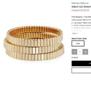 Jewelry - Neiman Marcus Gold Stretch Bracelets New Set of 2